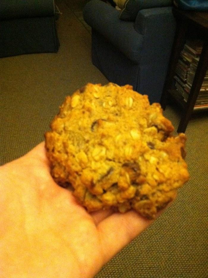 Recipe: Oatmeal Chocolate Chip Power Cookie (GF, Paleo and Vegan friendly)